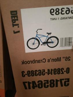 """HUFFY 26"""" MENS CRANBROOK CRUISER BIKE CYCLE BLUE NEW IN BO"""