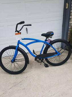 "HUFFY 26"" MENS CRANBROOK CRUISER BIKE CYCLE BLUE NEW"