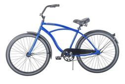 "HUFFY 26"" MEN'S CRANBROOK CRUISER BIKE GRAY BLUE IN BOX"