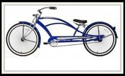 "Micargi 26"" Mustang GTS Stretch Cruiser Bike In Blue"
