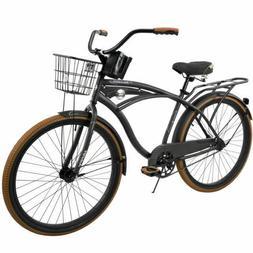 """Huffy 26"""" Nel Lusso Men's Single-Speed Comfort Cruiser Bik"""