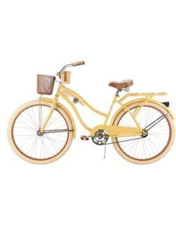 """Huffy 26"""" Nel Lusso Women's Cruiser Bike, Yellow"""