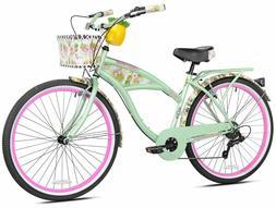 """Margaritaville 26"""" Pineapple Women's Cruiser Bike, Green"""
