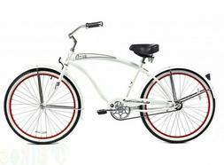 "Micargi 26"" Rover Men beach cruiser bicycle bike white"