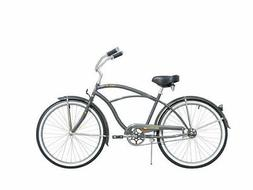 "Micargi 26"" Tahiti Men beach cruiser bicycle bike Flint Grey"