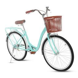 "26"" Wheel Classic Bicycle Retro Style Bicycle Cruiser Women'"