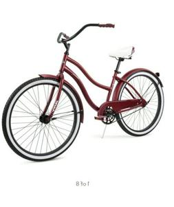 "HUFFY 26"" WOMEN'S CRANBROOK CRUISER BIKE Dark Red NIB Bicy"