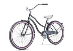 "HUFFY 26"" WOMEN'S CRANBROOK CRUISER BIKE RARE Gray/Purple"