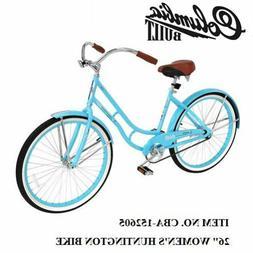 "26"" Women's Huntington Beach Cruiser Commuter Bike light blu"