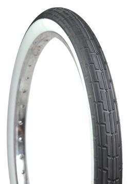 Deli Tire 26 x 2.35 Folding Bead, Cruiser Bike Tire, Black/W