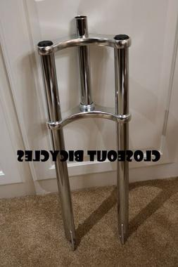 "26x4"" Triple Tree FAT TIRE Disc Tab BICYCLE Bike Fork 1 1/8"""