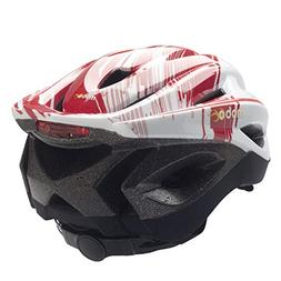 360 LED Helmet Size: Large / Extra Large, Color: Red / White
