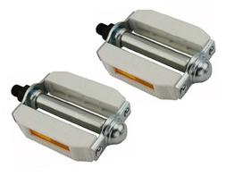 "507 Pvc Pedals 1/2"" White/Chrome. Bike pedals, bicycle pedal"