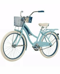 "🚲Huffy 54578 Nel Lusso 24"" Cruiser Bike - Blue Satin BEST"