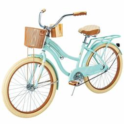 "Huffy 54578 Nel Lusso 24"" Cruiser Bike - Mint Green BEST GIF"
