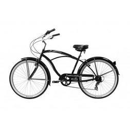 """Micargi 7 spd 24"""" Tahiti Men beach cruiser bicycle bike Blac"""