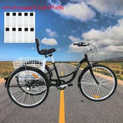 """Ridgeyard 7-Speed Adult 26"""" 3-Wheel Tricycle Trike Bike Bicy"""
