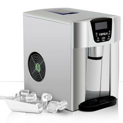 2 IN 1 26LBS Electric Cool Water Dispenser Built-In Ice Make