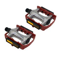 "940 Alloy Pedals 9/16"" Red Bicycle Bike Road MTB Cruiser Fix"