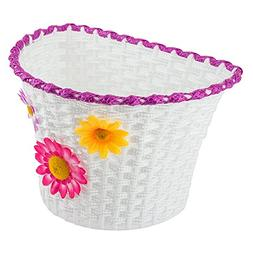Classic Bike Basket - Small Bicycle Basket with Removable Fl