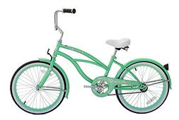 "Micargi Jetta, Mint Green - Girls' 20"" Beach Cruiser Bike"