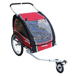 Allen Sports Premium Aluminum 2 Child Bicycle Trailer and St