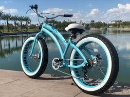 Aluminum Fat Tire Bike Beach Cruiser  🌴 Sikk 7 SPEED ALL