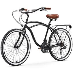 sixthreezero Around The Block Men's 21-Speed Cruiser Bicycle
