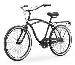 "Sixthreezero Around the Block Men's 26"" 3-Speed Matte Black"