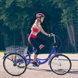Around The Block Women men 7Speed Beach Cruiser Bicycle 3whe
