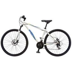 "Mongoose Men's Banish 2.0 Hybrid Bike, White, 29"" Wheel &"