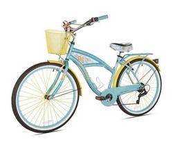 "BCA 26"" Margaritaville Multi-Speed Cruiser Women's Bike, Tea"