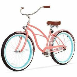 sixthreezero Women's Single Speed Beach Cruiser Bicycle, Pai