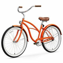 sixthreezero Women's Single Speed Beach Cruiser Bicycle, Glo