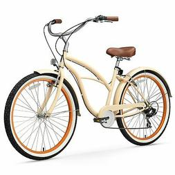 sixthreezero Women's 7-Speed Beach Cruiser Bicycle, Scholar