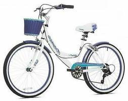Beach Cruiser Bicycle Bike Womens 24 Inch Girls 7 Speed Vint