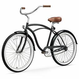 sixthreezero Men's BE Single Speed Beach Cruiser Bicycle, Bl
