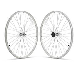 Firmstrong Beach Cruiser Bicycle Wheelset Front and Rear Sil