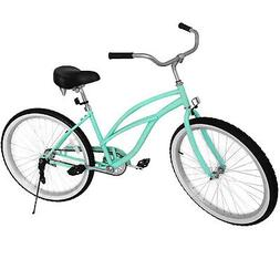 "Beach Cruiser Bike 24"" Beach Cruiser Bicycle Cycling Steel S"