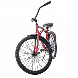 Beach Cruiser Bike Mens 26 Inch Perfect Fit Steel Rim Frame