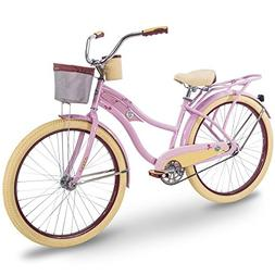 "Huffy 26"" Women's Beach Cruiser Holbrook Bike w/Cup Holder,"