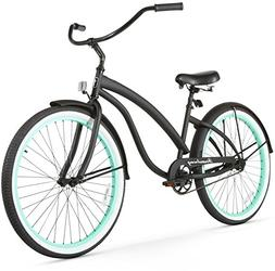 Women's Bella Fashionista Beach Cruiser Bike, Black with Gre