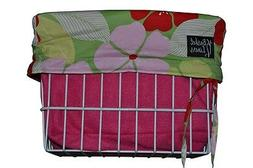 Bicycle Basket Liner Hawaiian flower pink  Beach Cruiser Com