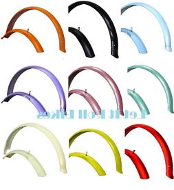 "Bicycle Fender Set for 26"" Beach Cruiser Bikes===16 Colors A"