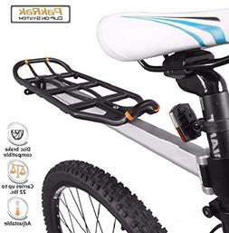 Bicycle Rear Seat Mount Carrier & Pannier Rack Cycling Stora