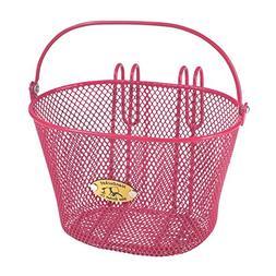 Nantucket Bike Basket Co Kid's Surfside Mesh Wire Basket, Pi
