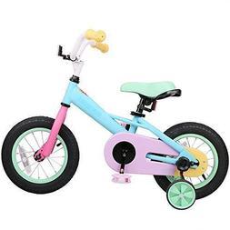 JOYSTAR Macaron 12 Inch Kids Bike for 2 3 4 Years Girls, Chi