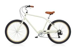Benno Bikes Upright Men's 7D w/Fenders Cruiser Bicycle - Egg