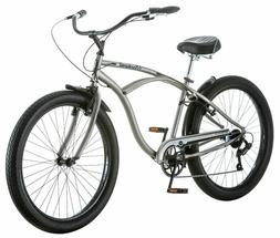 "26"" Schwinn Men's Blackwell Cruiser Bike, Silver"