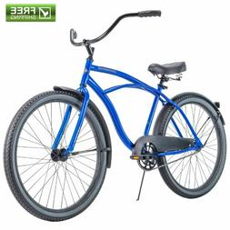 "Blue Cruiser Bike 26"" Men Huffy Traditional Comfort Commuter"